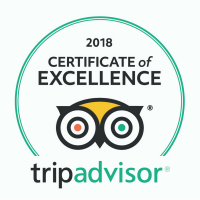 TripAdvisor Certificate of Excellence 2018 800x800